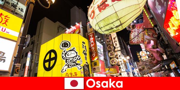 El entretenimiento cómico es siempre el tema principal para los extranjeros en Osaka.